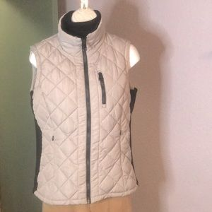 Fitted Andrew Marc Grey Quilted Vest- Sz S
